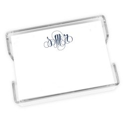 Delavan Monogram Agenda - White with holder - Click to see larger image