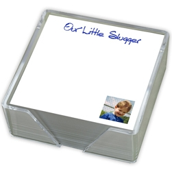 Family Photo Memo Square Right Corner with holder - Click to see larger image