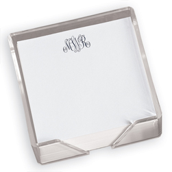 Classic Monogram Memo Square with Holder - Click to see larger image