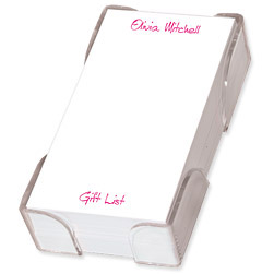 Family List Sheets with CrystalClear Holder - click to enlarge